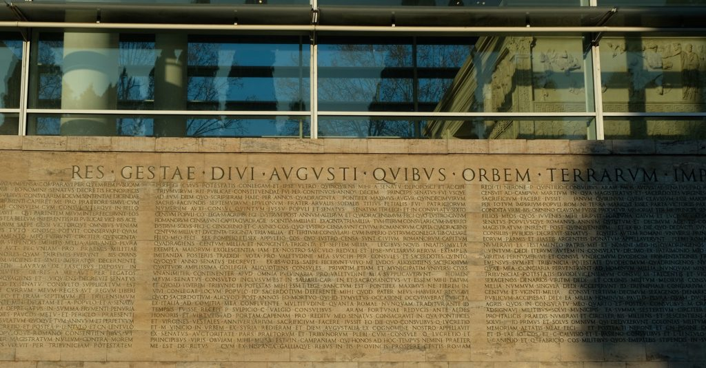 res gestae divi augusti - why write history
