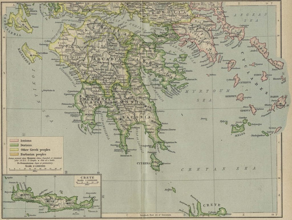 General reference map of the Greek mainland for all of Plutarch's Lives