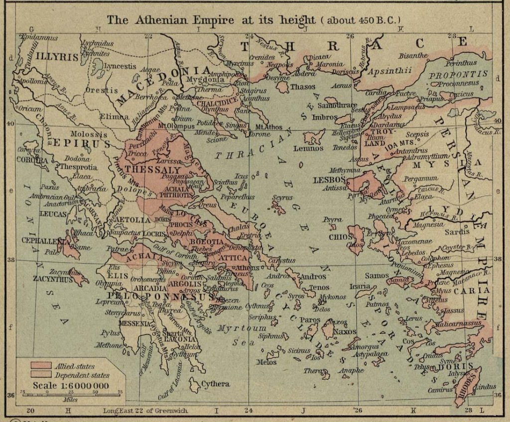 Best map centered on the Aegean for studying Plutarch's Lives