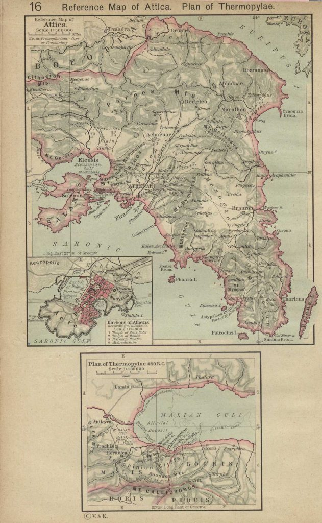 Best Map for Attica, Saronic Gulf, Piraeus, and Thermopylae while reading Plutarch's Lives.