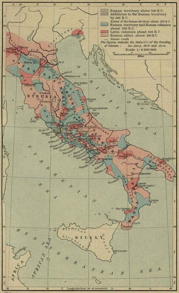 Best map for Roman expansion in Italy, covering many lives.