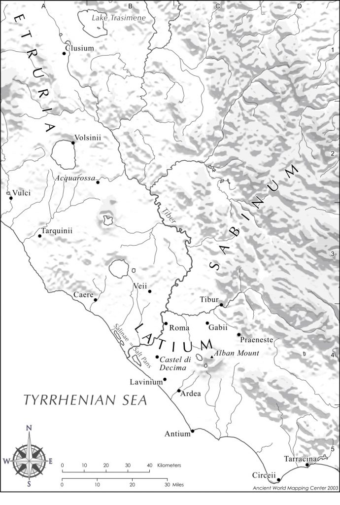 Lars Porsena of Clusium attacks Rome but is converted from adversary to ally by Publius.