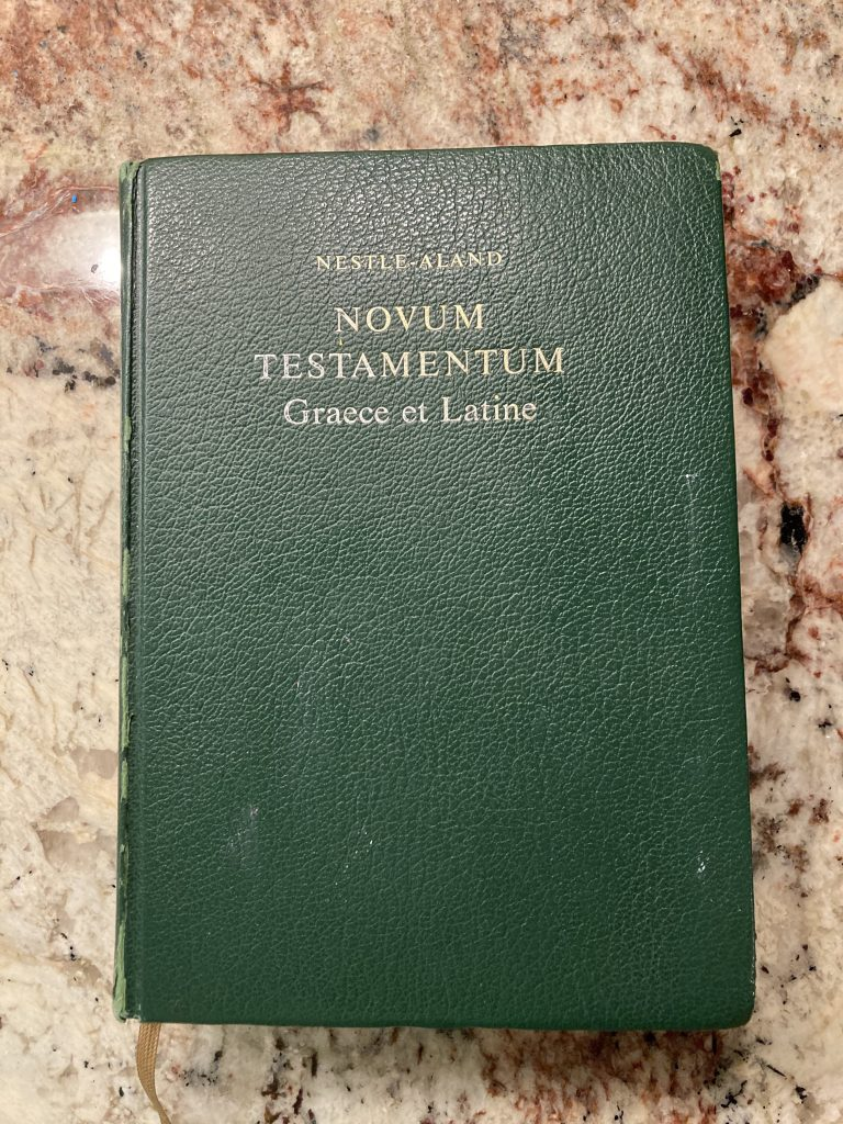 Cover of Nestle-Aland Greek and Latin New Testament, 27th ed.