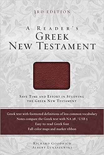 A picture of the boxed Greek New Testament, the cheapest and most durable option for students still struggling with the Greek.